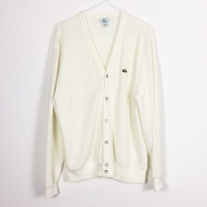 Izod Lacoste Vintage Button Down Cardigan Sweater
